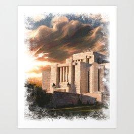 Cardston Alberta LDS Temple Art Print
