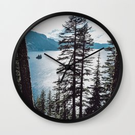 Mountain Lake Retreat Wall Clock
