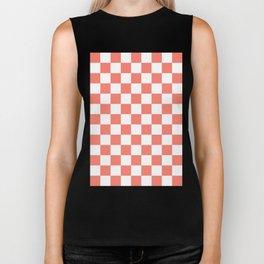 Checker (Salmon/White) Biker Tank