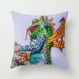 Monster frog Throw Pillow
