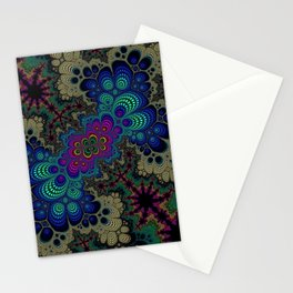 Peacock Fractal Stationery Cards
