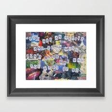 Portrait of My Brain Framed Art Print