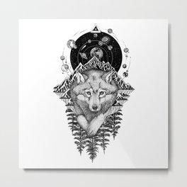 Space Wolf Metal Print
