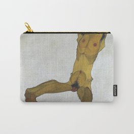 Seated Male Nude by Egon Schiele Carry-All Pouch