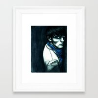 merlin Framed Art Prints featuring Merlin by The Hopeful Raincoat
