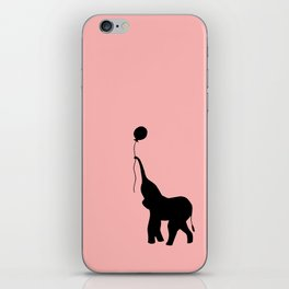 Elephant with Balloon - Pink iPhone Skin