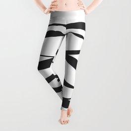 A Bottomless Sea No. 3 Black and white Leggings