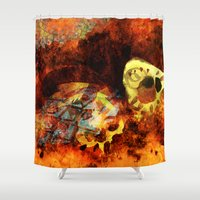 bugs Shower Curtains featuring Chasing bugs. by Nato Gomes