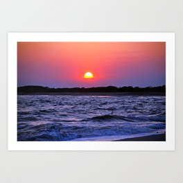 Colorful Cape May Sunset Art Print