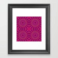 Colorful Magenta Pinwheel Flowers Framed Art Print