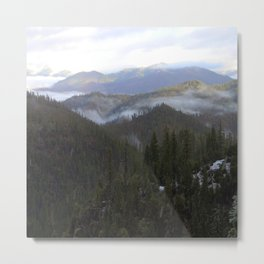 Snowy day on Highway 36 Metal Print