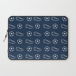 The Soccer Pattern Laptop Sleeve