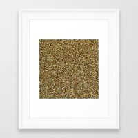 gold glitter Framed Art Prints featuring Gold Glitter by Katieb1013
