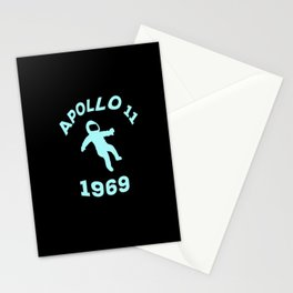 Apollo 11 1969 astronaut rocket space 1969 Stationery Cards