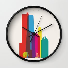 Shapes of Chicago. Accurate to scale Wall Clock