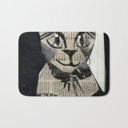 Newspaper Cat Bath Mat