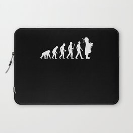 Evolution Bagpiper Bagpipe Motif Laptop Sleeve