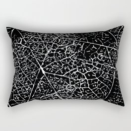 Black and white leaf pattern Rectangular Pillow