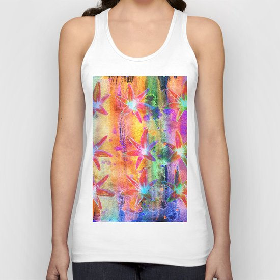 Colorful Lilies Unisex Tank Top