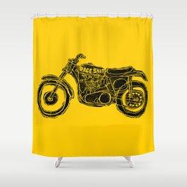 race shit Shower Curtain