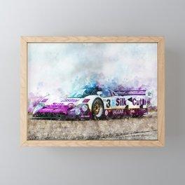 Jaguar XJR 12, Silk Cut Framed Mini Art Print