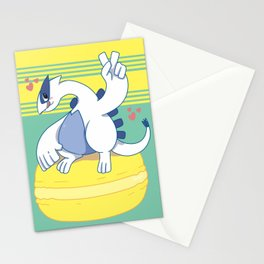 Lugia and a Big Macaroon Stationery Cards