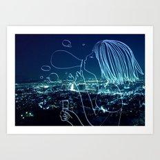 In my soul of Seoul Art Print