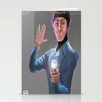 spock Stationery Cards featuring Spock by Matt Hancox