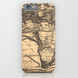 Iconographic Encyclopedia of Science, Literature and Art (1851) - Physical map of Africa iPhone Case