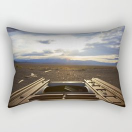 too much tv Rectangular Pillow