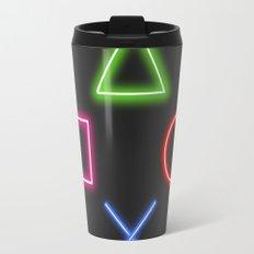 Neon Buttons Travel Mug