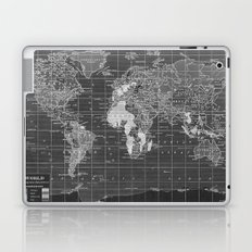 Black and White Vintage World Map Laptop & iPad Skin