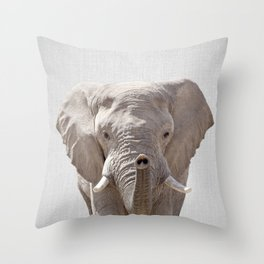 Elephant - Colorful Throw Pillow