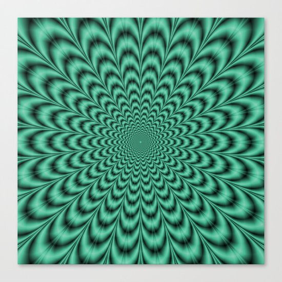 Sea Green Explosion Canvas Print