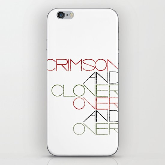 Crimson and Clover Over and Over iPhone & iPod Skin