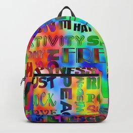 Flower Power Words Of Life Backpack