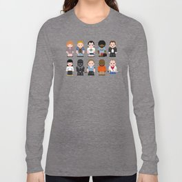 Pixel Pulp Fiction Characters Long Sleeve T-shirt