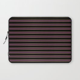 Black Gold and Purple Queen Elizabeth the Second Royal Stripes Laptop Sleeve