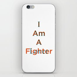 Lover and a Fighter iPhone Skin