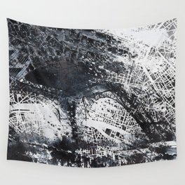 Eiffel tower painting  - Paris Map Wall Tapestry