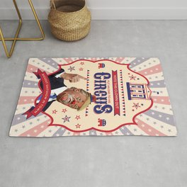 Trump Is A Clown - Vintage Circus Poster Rug