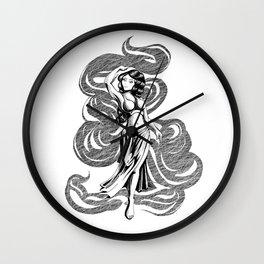wispy woman Wall Clock
