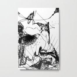 Flying Umbrellas Metal Print