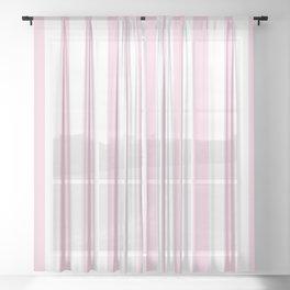 Pastel pink white modern geometric stripes Sheer Curtain