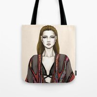 gucci Tote Bags featuring Gucci illustration by Tania Santos