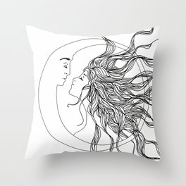 Sun and Moon II Throw Pillow