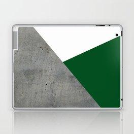 Concrete Festive Green White Laptop & iPad Skin