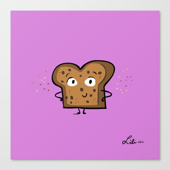 Cinnamon Raisin Toast Canvas Print