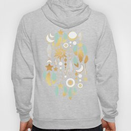 Bohemian spirit // dark turquoise background Hoody