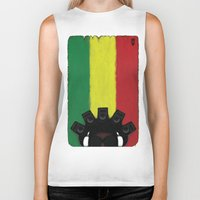 reggae Biker Tanks featuring Reggae King by JRV Distorted Works
